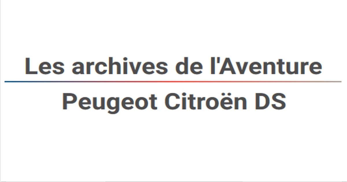 Les Archives De LAventure Peugeot Citron DS